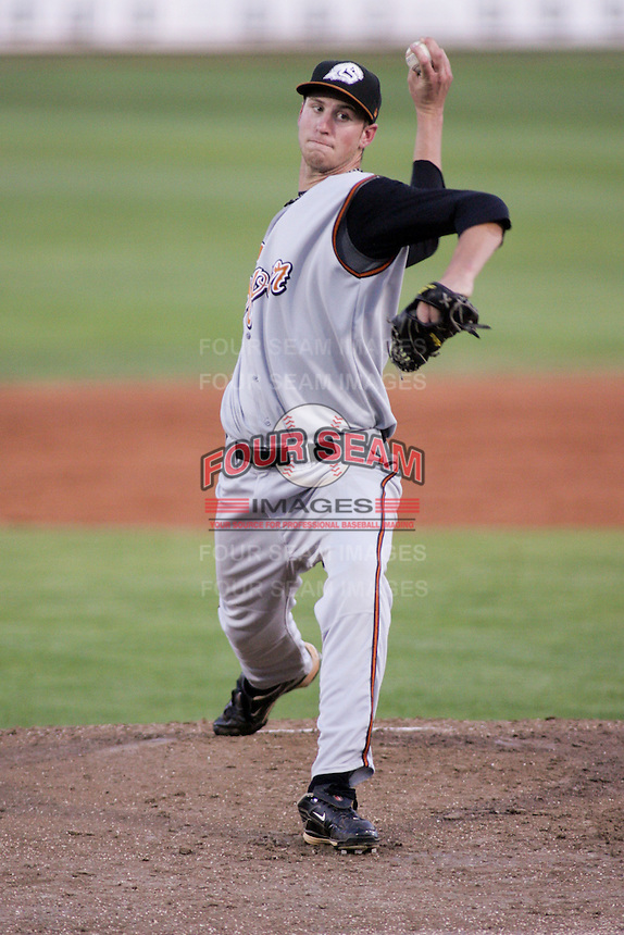 September 1, 2009: Nicholas Schnaitmann of the Casper Ghosts, Pioneer League Rookie Class A affiliate of the Colorado Rockies, during a game at the Orem Owlz Ballpark in Orem, UT.  Photo by:  Matthew Sauk/Four Seam Images