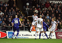 Pictured: Angel Rangel of Swansea City in action <br />