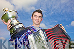 ON THE BOX: The new All-Ireland Senior Accordion champion Conor Moriarty from Kilcummin who is planning a debut album and a career in music.