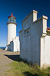 Pacific County, WA      <br /> North Head Lighthouse and auxiliary buildings (1898) Cape Disappointment State Park on the Long Beach Peninsula
