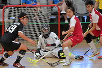 Singapore&rsquo;s Fariza Zabir in action during the World Floorball Championships 2017 Qualification for Asia Oceania Region - Singapore v Thailand at ASB Sports Centre , Wellington, New Zealand on Sunday 5 February 2017.<br /> Photo by Masanori Udagawa<br /> www.photowellington.photoshelter.com.