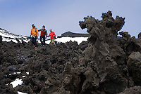 Etna, Sicily, June 2006. The Etna erupts almost every other year. Climbing it, one can peek into the steaming craters. The volcanoes of Southern Italy offer a spectacular landscape for trekking while staying in picturesque towns. Photo by Frits Meyst/Adventure4ever.com