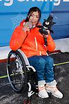 Momoka Muraoka (JPN), MARCH 11, 2018 - Alpine Skiing : Women's Super G Sitting Medal Ceremony at PyeongChang Medals Plaza during the PyeongChang 2018 Paralympics Winter Games in Pyeongchang, South Korea. (Photo by Yusuke Nakanishi/AFLO SPORT)