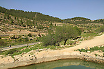 Israel, Jerusalem mountains, Ein Hania in Nahal Refaim, the storage pool