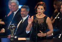 Zurigo 09-01-2017 FIFA Football Awards - Carli Lloyd (USA), player of the year, women, during the Best FIFA Football Awards 2016 in Zurich<br /> Foto Steffen Schmidt/freshfocus/Insidefoto