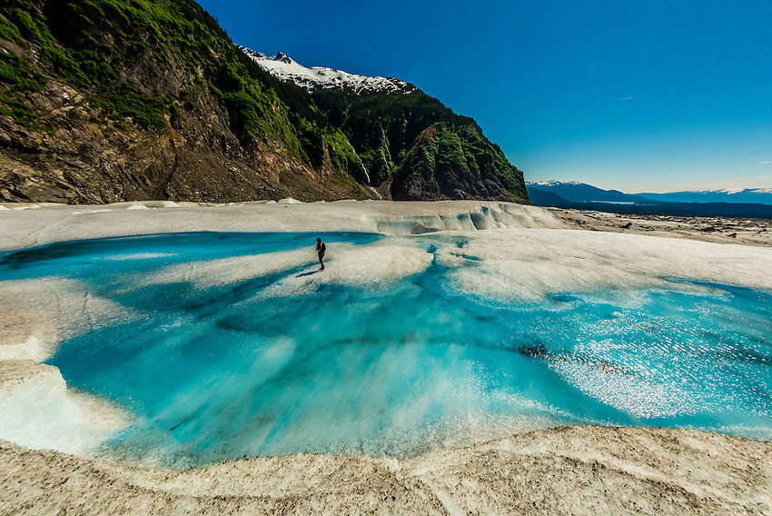 USA-Alaska-Southeast-Juneau-Mendenhall Glacier-Aerial Views