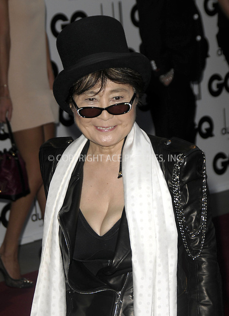 WWW.ACEPIXS.COM . . . . .  ..... . . . . US SALES ONLY . . . . .....September 8 2009, London....Yoko Ono at the GQ Men Of The Year Awards on September 8 2009  in London....Please byline: FAMOUS-ACE PICTURES... . . . .  ....Ace Pictures, Inc:  ..tel: (212) 243 8787 or (646) 769 0430..e-mail: info@acepixs.com..web: http://www.acepixs.com