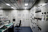 The engine room on the Mary Maersk, the largest container ship in the world.