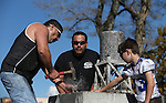 Tobin Rupert drills 8-19/32&rdquo; in the annual Nevada Day rock drilling competition in Carson City, Nev. on Saturday, Oct. 29, 2016. <br /> Photo by Cathleen Allison