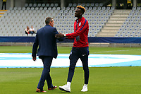 England Under21 manager Aidy Boothroyd and Tammy Abraham  before Sweden Under-21 vs England Under-21, UEFA European Under-21 Championship Football at The Kolporter Arena on 16th June 2017