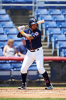 Binghamton Mets right fielder Stefan Sabol (2) at bat during a game against the Richmond Flying Squirrels on June 26, 2016 at NYSEG Stadium in Binghamton, New York.  Binghamton defeated Richmond 7-2.  (Mike Janes/Four Seam Images)