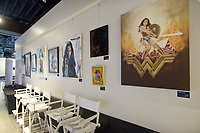 NWA Democrat-Gazette/BEN GOFF @NWABENGOFF<br /> Movie-inspired art hangs Thursday, May 4, 2017, at Record during the Bentonville Film Festival.