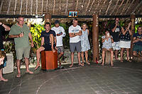 Namotu Island Resort, Nadi, Fiji (Wednesday, May 23nd 2018): The swell had dropped back again over night  and was in the 3'-4'  range. Swimming Pools, Wilkes and Namotu Lefts were the spots for the guests who surfed around the tides. Cloudbreak was crowded and in the 4' range. The winds were variable and there were light rain showers during the morning.<br /> Photo: joliphotos.com