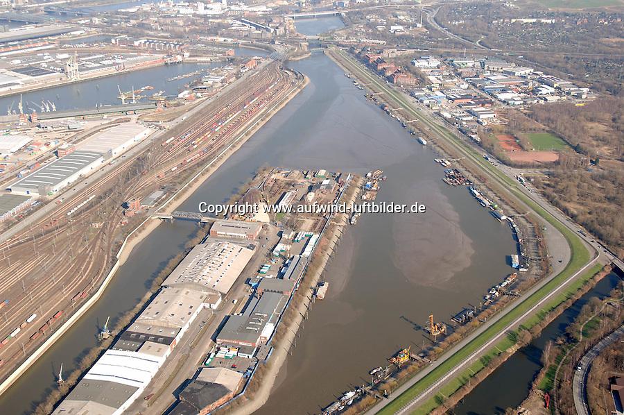 Deutschland, Hamburg, Hafen,  Spreehafen, Brandenburger Strasse, Hafenbahnhof Sued, Kluetjenfelder Hauptdeich,