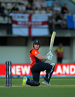 England captain Eoin Morgan bats during the 4th Twenty20 International cricket match between NZ Black Caps and England at McLean Park in Napier, New Zealand on Friday, 8 November 2019. Photo: Dave Lintott / lintottphoto.co.nz