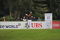 Julian Suri (USA) on the 17th tee during Round 3 of the UBS Hong Kong Open, at Hong Kong golf club, Fanling, Hong Kong. 25/11/2017<br /> Picture: Golffile | Thos Caffrey<br /> <br /> <br /> All photo usage must carry mandatory copyright credit     (&copy; Golffile | Thos Caffrey)
