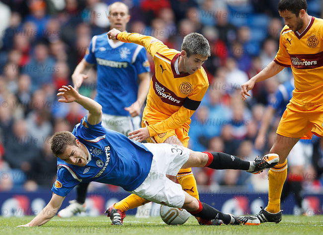 Andy Little eased off the ball by Keith Lasley
