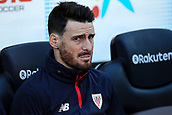 18th March 2018, Camp Nou, Barcelona, Spain; La Liga football, Barcelona versus Athletic Bilbao; Aritz Aduriz of Athletic Bilbao on the bench before the match begins