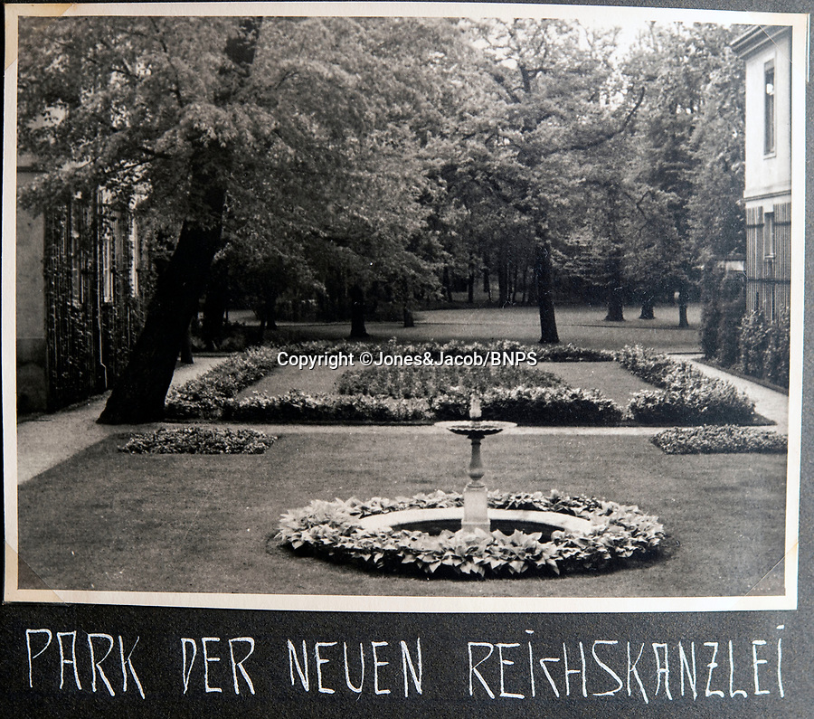 BNPS.co.uk (01202 558833)<br /> Pic: Jones&Jacob/BNPS<br /> <br /> 'Gardens of the new Reich Chancellery'.<br /> <br /> Springtime for Hitler...Chilling album of pictures taken by one of Hitlers bodyguards illustrates the Nazi dictators rise to power.<br /> <br /> An unseen album of photographs taken by a member of Hitlers own elite SS bodyguard division in the years leading up to the start of WW2.<br /> <br /> The 1st SS Panzer Division 'Leibstandarte SS Adolf Hitler' or LSSAH began as Adolf Hitler's personal bodyguard in the 1920's responsible for guarding the Führer's 'person, offices, and residences'.