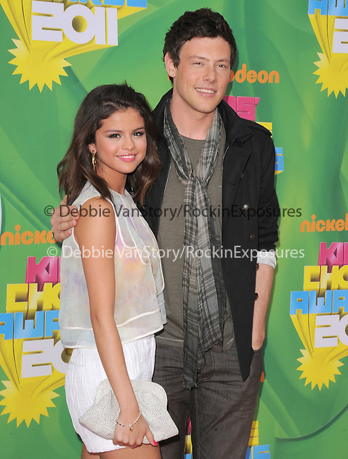 Selena Gomez and Cory Monteith attends The 24th Annual Kids' Choice Awards held at USC's Galen Center in Los Angeles, California on April 02,2011                                                                               © 2010 DVS / Hollywood Press Agency