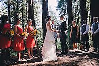 Lisa + Trenton's wedding on at the Sequoia Retreat Center in Ben Lomond, California on Saturday, Sept. 17, 2016.
