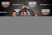IMSA WeatherTech SportsCar Championship<br /> Night of Champions<br /> Road Atlanta, Braselton GA<br /> Monday 9 October 2017<br /> Dirk Muller, Joey Hand, Mike O'Gara<br /> World Copyright: Michael L. Levitt<br /> LAT Images