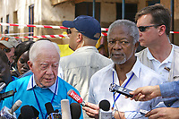 Jimmy Carter, with former UN Secretary-General Kofi Annan, leads an observer mission at South Sudan's referendum on independence, January 2011   <br /> <br /> PHOTO : Ranjit Bhaskar of Al Jazeera English