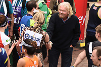 Richard Branson<br /> at the finish of the London Marathon 2019, Greenwich, London<br /> <br /> ©Ash Knotek  D3496  28/04/2019