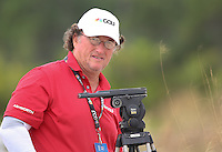 "151204 NBC A-1 Camera Operator Mike ""The Dawg"" Wimberly during Friday's Second Round of The Hero World Challenge, at The Albany Golf Club in New Providence, Nassau, Bahamas.(photo credit : kenneth e. dennis/kendennisphoto.com)"