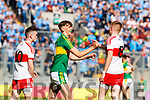 David Clifford Kerry captain celebrates defeating Derry in the All-Ireland Minor Footballl Final in Croke Park on Sunday.