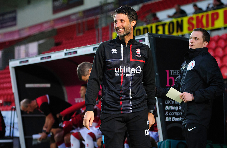 Lincoln City manager Danny Cowley<br /> <br /> Photographer Chris Vaughan/CameraSport<br /> <br /> EFL Leasing.com Trophy - Northern Section - Group H - Doncaster Rovers v Lincoln City - Tuesday 3rd September 2019 - Keepmoat Stadium - Doncaster<br />  <br /> World Copyright © 2018 CameraSport. All rights reserved. 43 Linden Ave. Countesthorpe. Leicester. England. LE8 5PG - Tel: +44 (0) 116 277 4147 - admin@camerasport.com - www.camerasport.com