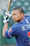 Catcher Christian Bethancourt (19) of the Rome Braves, Class A affiliate of the Atlanta Braves, in a game against the Greenville Drive April 12, 2010, at Fluor Field at the West End in Greenville, S.C. Bethancourt is the Braves'  No. 6 prospect, according to Baseball America. Photo by: Tom Priddy/Four Seam Images