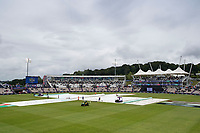 A general view of the Ageas Bowl, covers on with play suspended during South Africa vs West Indies, ICC World Cup Cricket at the Hampshire Bowl on 10th June 2019