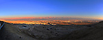 28 December 2011: Dusk photographs overlooking the Dead Sea in the Negev Desert north of  Eilat, Southeast of Jerusalem, Israel. The mountain range seen beyond the Dead Sea is in Jordan. Mandatory Credit: Ed Wolfstein