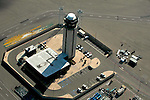 Aerial view of San Diego Airport Tower at San Diego international Airport, California
