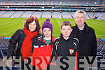 Mags, Laura, Dylon and Philip Spillane (Kenmare)  pictured at Croke Park on Sunday for the Kenmare vs Ballinasloe final.