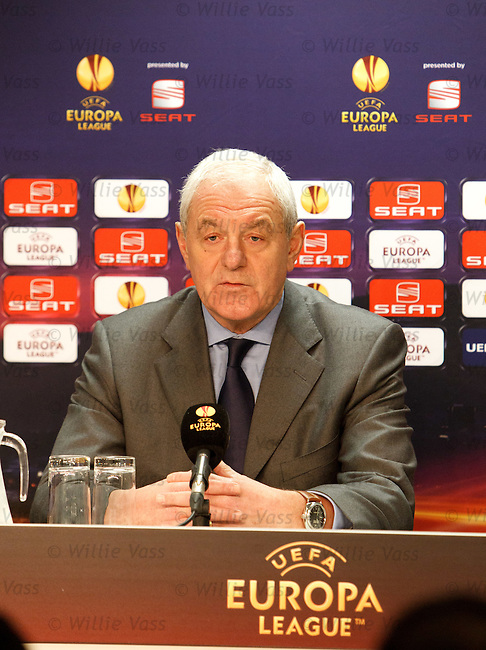 Walter Smith at the Europa League press conference