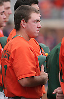Erik Erickson of the Miami Hurricanes vs. the Virginia Cavaliers: March 24th, 2007 at Davenport Field in Charlottesville, VA.  Photo by:  Mike Janes/Four Seam Images