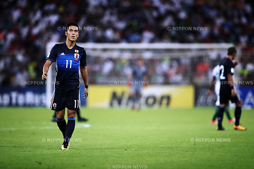 Yuya Kubo (JPN), <br /> SEPTEMBER 5, 2017 - Football / Soccer :  FIFA World Cup Russia 2018 Asian Qualifier Final Round Group B match between <br /> Japan 0-1 Saudi Arabia <br /> at King Abdullah Sports City Stadium in Jeddah, Saudi Arabia. (Photo by Sho Tamura/AFLO)