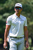 Rafa Cabrera-Bello (ESP) after sinking his putt on 1 during round 1 of the World Golf Championships, Mexico, Club De Golf Chapultepec, Mexico City, Mexico. 3/2/2017.<br />