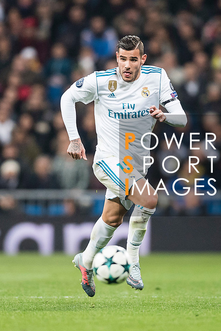 Theo Hernandez of Real Madrid in action during the Europe Champions League 2017-18 match between Real Madrid and Borussia Dortmund at Santiago Bernabeu Stadium on 06 December 2017 in Madrid Spain. Photo by Diego Gonzalez / Power Sport Images