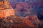 Sunrise on the rock formations in Grand Canyon National Park, AZ, USA