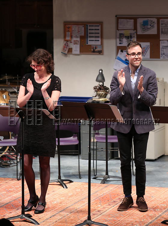 Deborah Zoe Laufer and Mark Sonnenblick during the 2018 Presentation of New Works by the DGF Fellows on October 15, 2018 at the Playwrights Horizons Theatre in New York City.