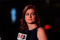 Philadelphia, PA - Thursday January 18, 2018: Jordan Angeli during the 2018 NWSL College Draft at the Pennsylvania Convention Center.
