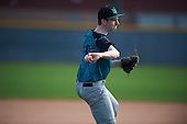 Brody Jessee (8) of SOUTH ANCHORAGE High School in Anchorage, Alaska during the Under Armour All-American Pre-Season Tournament presented by Baseball Factory on January 14, 2017 at Sloan Park in Mesa, Arizona.  (Mike Janes/Mike Janes Photography)