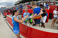 Bridgeview, IL - Saturday June 17, 2017: Fans, Vanessa DiBernardo during a regular season National Women's Soccer League (NWSL) match between the Chicago Red Stars and the Washington Spirit at Toyota Park. The match ended in a 1-1 tie.