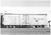 Side view of D&amp;RGW short reefer #72 at Alamosa.<br /> D&amp;RGW  Alamosa, CO  Taken by Richardson, Robert W.