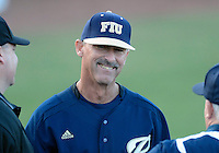 Florida International University Head Coach Turtle Thomas during the game against Florida Atlantic University. FAU won the game 5-1 on March 16, 2012 at Miami, Florida.
