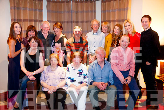 Cathering O'Sullivan celebrated her birthday with family and friends in Brooklane Hotel on Saturday. <br /> <br /> L-R: Breda Downing, Catherine O'Sullivan, Donal Downing, Julie Weblin, Val Weblin, Martina Downing, Kay Riley, John Downing, Moira Downing, Chris O'Sullivan, Vincent Downing, Mary Fogarty, Terry Whitty, Linda Downing and Daniel Riley.