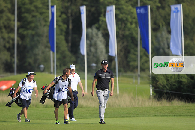 Morton Orum Madsen (DEN) on the 1st fairway during Round 1 of the 2016 KLM Open at the Dutch Golf Club at Spijk in The Netherlands on Thursday 08/09/16.<br /> Picture: Thos Caffrey | Golffile